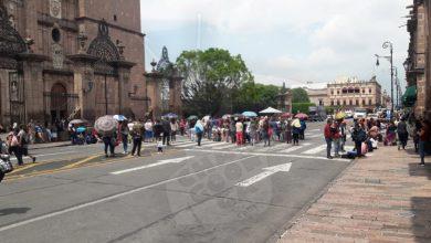 Photo of #Morelia Antorcha Campesina Se Manifiesta Frente A Palacio De Gobierno