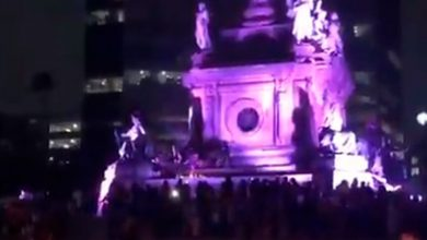 Photo of #Video Feministas Vandalizan Ángel De La Independencia De La #CDMX