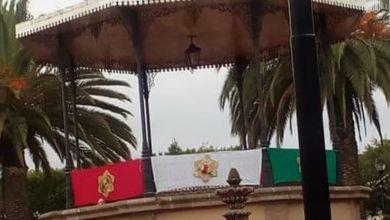 Photo of Municipio Michoacano Invierte Los Colores De La Bandera En Adornos Patrios