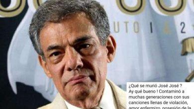 Photo of Feminista Celebra Muerte De José José, Asegura Sus Canciones Eran Puro Machismo