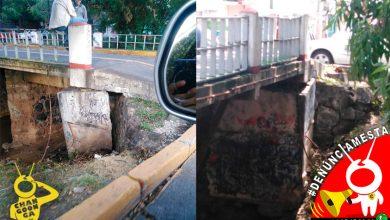 Photo of #Denúnciamesta Reportan puente en Av Solidaridad a nada de caerse