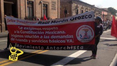 Photo of #Morelia Antorchistas Se Manifiestan En Centro Histórico, Se Dirige A Palacio Municipal