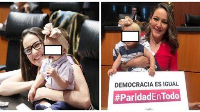 """Photo of Senadora Denuncia """"Bullying"""" De Compañeros Por Asistir Al Pleno Con Su Bebé"""