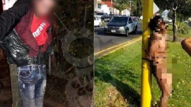 Photo of Pasa En Michoacán: 2 Lacras Uruapenses Son Amarradas Como Puerrrcos