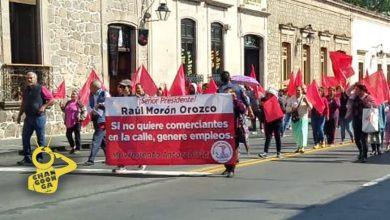 Photo of #Morelia Antorchistas Marchan Sobre Avenida Madero