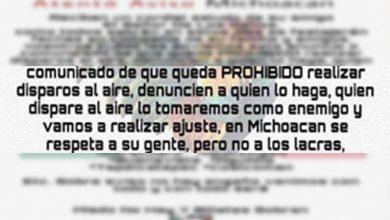 Photo of #Michoacán Circula Supuesta Advertencia Del Mencho De Castigar A Quienes Disparen Al Aire Estos Días