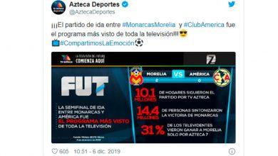 Photo of #Liguilla Monarcas Vs América, La Transmisión Más Vista En TV