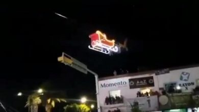 Photo of #Video Santa Claus Sufre Accidente Aéreo En Encendido De Árbol En Tlaxcala
