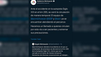 Photo of #Michoacán Cierran Tramo Sobre Autopista Siglo XXI Tras Derrame De Amoniaco