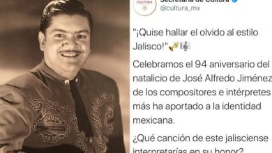 Photo of Secretaria De Cultura Federal Asegura Que José Alfredo Jiménez Era De Jalisco