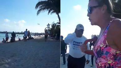 Photo of #Video Extranjera Corre A Turistas Mexicanos De Playa En Quintana Roo, Asegura Es Su Propiedad