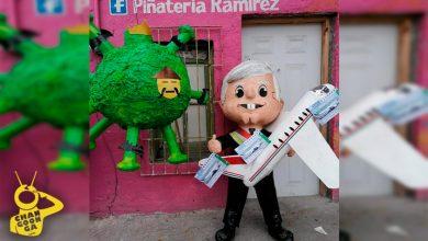 Photo of ¡Paren Todo! Ya Llegó, Ya Está Aquí… Lanzan Piñata De Avión De AMLO Y Coronavirus