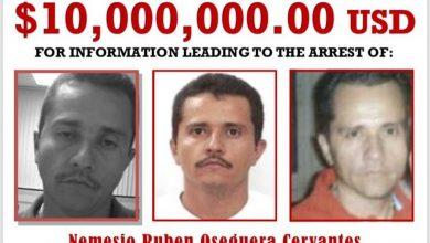 """Photo of DEA Califica A """"El Mencho"""" Como Fugitivo Más Buscado; Ofrece 10 MDD Por Él"""