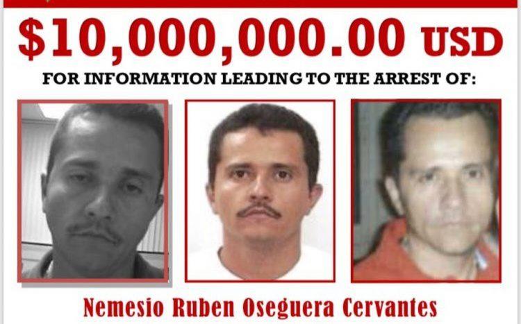 """DEA Califica A """"El Mencho"""" Como Fugitivo Más Buscado; Ofrece 10 MDD Por Él"""