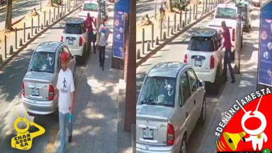 Photo of #Denúnciamesta Captan a tres tipos cristaleando carro sobre Calzada Juarez