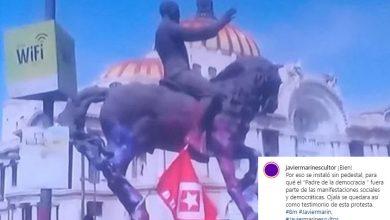 Photo of Escultor Michoacano Celebra Que Escultura Suya Haya Sido Pintada Por Feministas