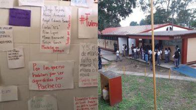 Manifestación en CETis por carne asada