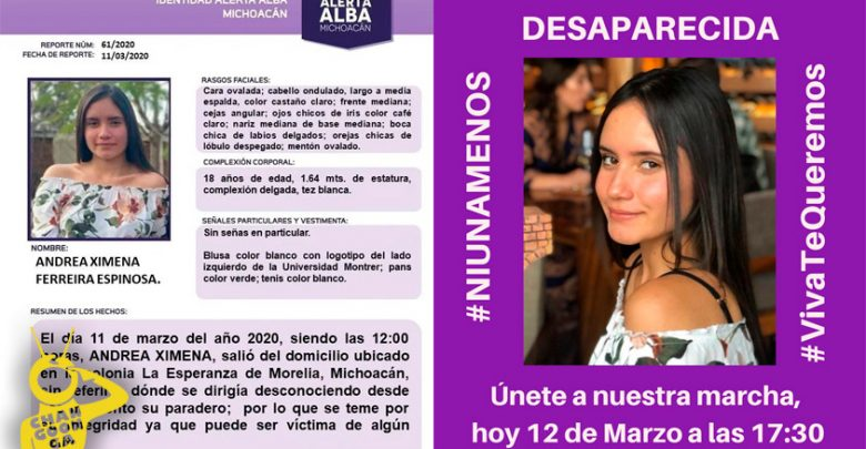 #Morelia Convocan A Marcha Para Que Ximena Aparezca Viva (1)