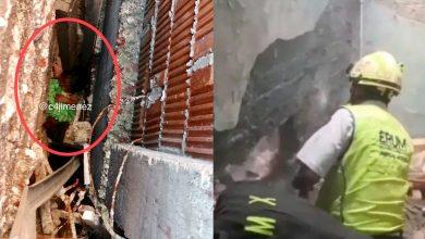 Photo of Rescatan A Recién Nacida Atrapada En Medio De Dos Muros, En CDMX