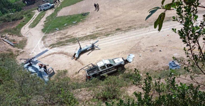 Se Desploma Helicóptero De La Marina En Veracruz; 1 Muerto Y 9 Heridos/Foto vía @cesargutipri