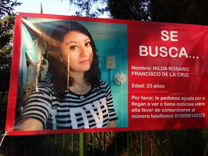 Hace un año Nilda fue reportada como desaparecida ante las autoridades