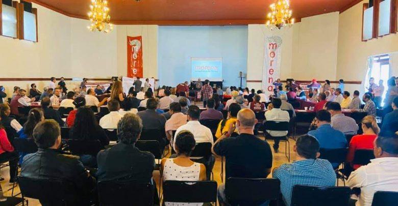 Pleno del consejo estatal de Morena