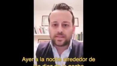 """""""Hoy es obligatorio quedarse en casa"""", describió en el mensaje"""