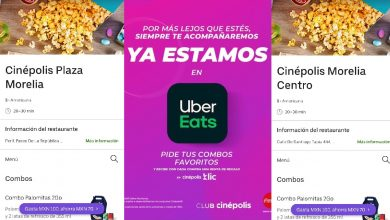 Photo of Cinépolis Comienza A Vender Palomitas, Dulces Y Hot Dogs Uber Eats, En Morelia