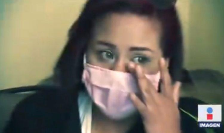 Claudia Hernández enfermera agregida. Captura Imagen Televisión