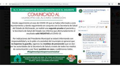 Photo of No Hubo 1er. Caso COVID-19 En Álvaro Obregón, Alcalde Informará Sin Adelantarse A Prueba