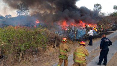 Photo of #Morelia Incendio De Pastizal Quema Algunos Autos Del Corralón En Salida Charo