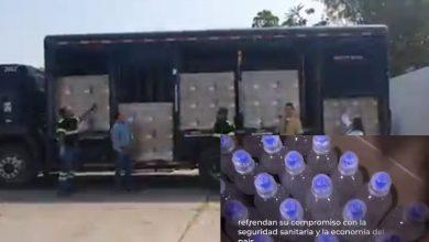 Grupo Modelo entrega geles antibacterial al IMSS