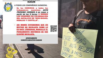 Photo of A Pesar De Prohibición De Actos Cívicos, Convoca SUEUM A Ir A Natalicio De Hidalgo