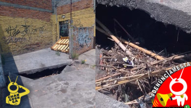 Photo of #Denúnciamesta Boquete en plena calle preocupa a morelianos, temen inundación
