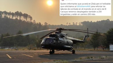 #Michoacán Anuncia Silvano Llegada De Helicóptero Pa' Frenar Incendio En Zitácuaro
