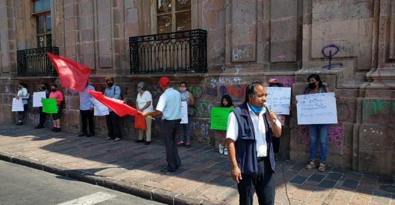 #Morelia Antorchistas Se Manifiestan En Centro; Exigen Fertilizante Que No Reciben Desde 2018