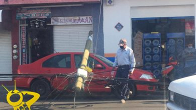 #Morelia Poste Caído Causa Cierre De Circulación En Avenida Michoacán
