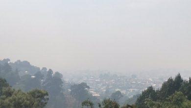 Reportan Harto Humo En Uruapan Por Incendios Forestales; Difícil Ver La Ciudad