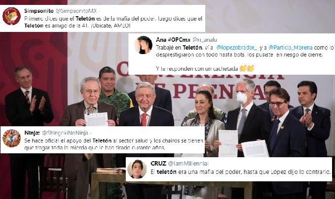 Tunden En Redes A AMLO Por Apoyar Hoy Al Teletón Pero Haberlo Criticado Por Años