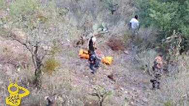 Photo of #Michoacán Helicóptero Rescata A Policía Al Caer A Barranco Tras Operativo En Epitacio
