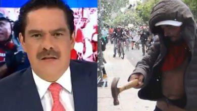 "Photo of #Video Tv Azteca Vuelve A Armar Lío Al Llamar ""Vándalos"" A Brigada Marabunta"