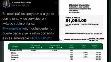 Photo of Alfonso Martínez Acusa: CFE Aumentó Precios Y Está Cortando La Luz En Plena Pandemia