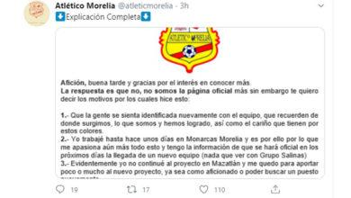 Photo of ¡Atención Aficionados! Cuenta De Twitter De Atlético Morelia No Es La Oficial