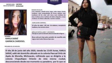 "Photo of Joven Moreliana Esta Desaparecida; Alcanzó A Reportar Que La ""Levantaron"""