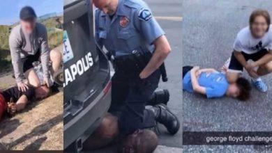 Photo of Lanzan El #GeorgeFloydChallenge, Imitan Cómo Asfixió Policía A Víctima