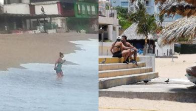 """Photo of ¡Los Cacharon! """"Corren"""" De Playas De Acapulco A Mariana Seoane Y Pablo Montero"""