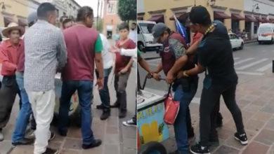 #Morelia Inspectores Le Quitan Su Carrito A Paletero Que Vendía En El Centro
