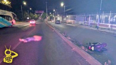 #Morelia Motociclista Se Accidenta En Periférico, Cerce De Macroplaza Estadio