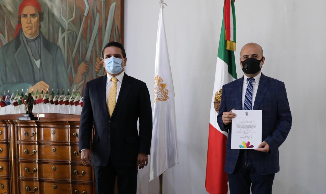 Photo of #Michoacán Anuncia Silvano Nuevo Titular De Secretaria De Educación Estatal