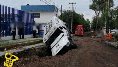 Photo of #Morelia Camioneta De Valores Cae A Zanja De Obra Vial En La Madero